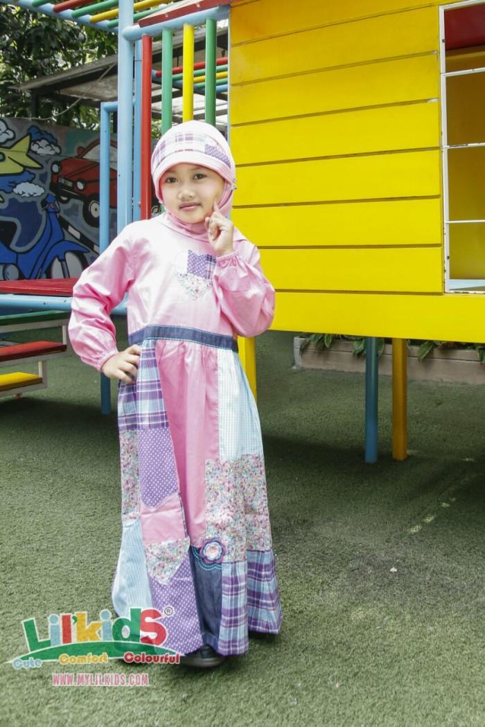 Foto Produk Baju Muslim Anak Pink Size 4 RP 168.000 dari Lil Kids