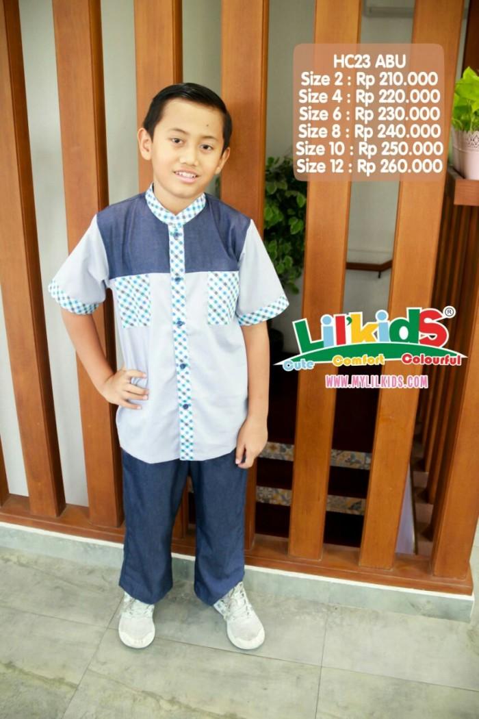 Foto Produk Baju Muslim Anak Putra H 23 Abu Size 2 RP 189.000 dari Lil Kids