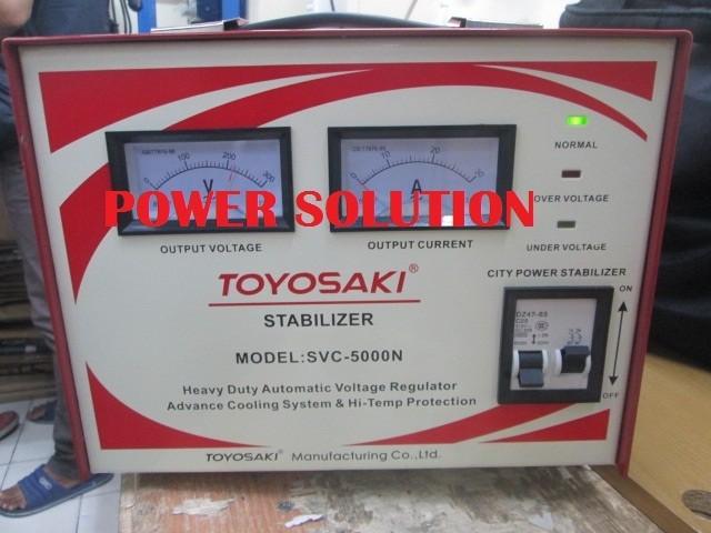 harga [ go-send ] stabilizer listrik toyosaki svc5000n / 5000va Tokopedia.com