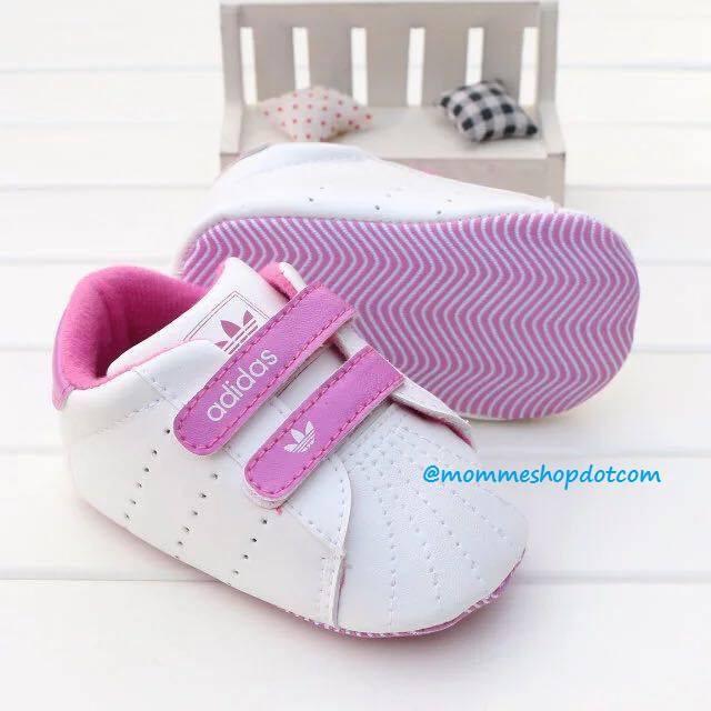 Prewalker adidas white pink