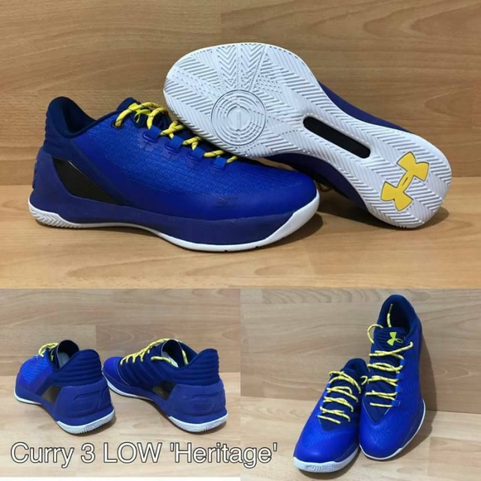 Jual sepatu basket under armour curry 3 low dubnation blue heritage ... 72b1c74378