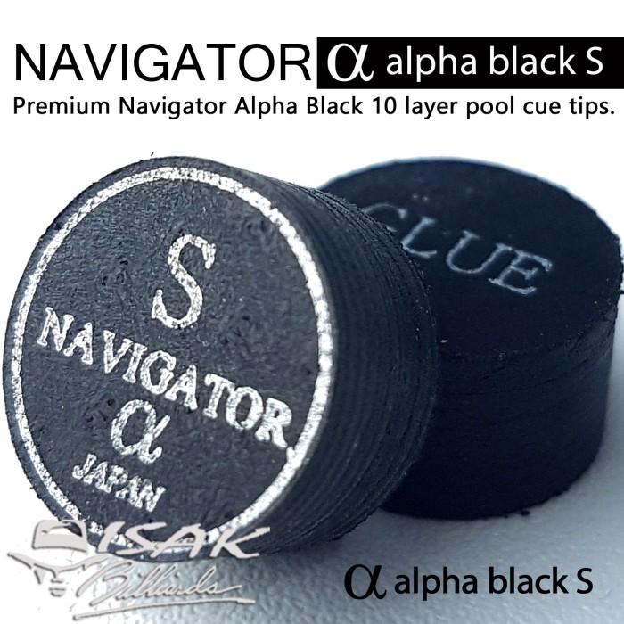 Navigator alpha black s - soft layer cue tip - billiard biliar bilyar