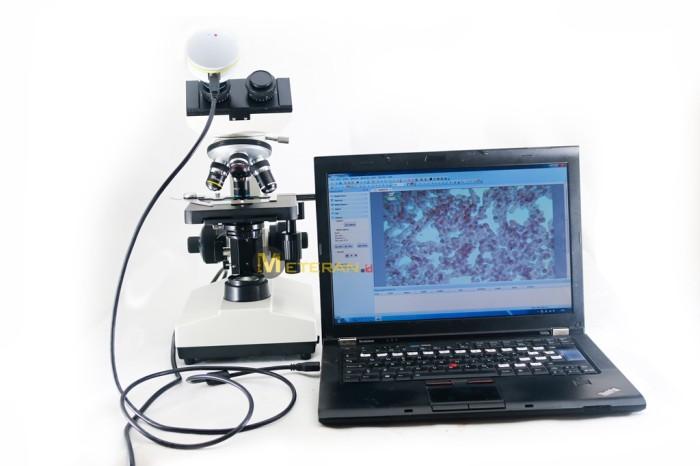 Jual biological microscope hd camera mikroskop biologi kamera hd