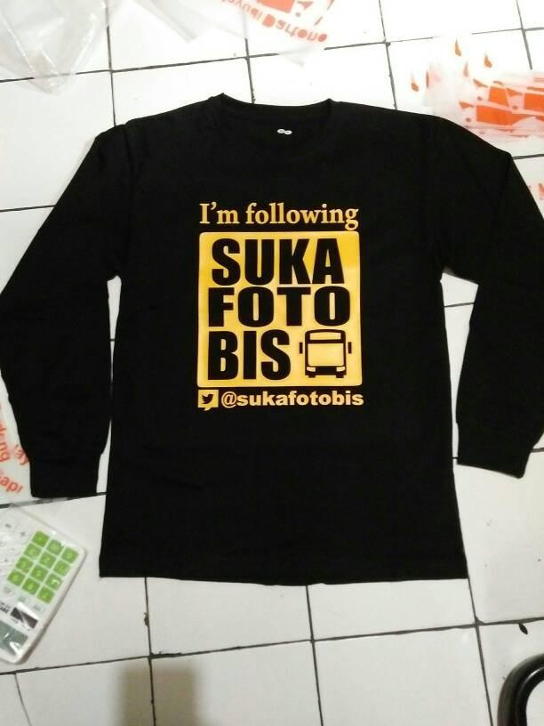 harga Kaos lengan panjang/baju/long sleve keren suka foto bis Tokopedia.com