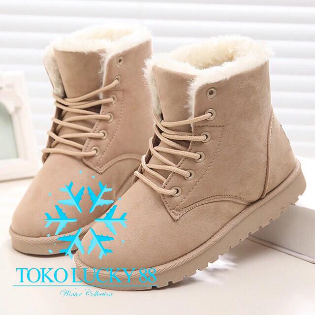 Jual Sepatu Boots Musim Dingin - Toko Lucky 88  8efb16337c