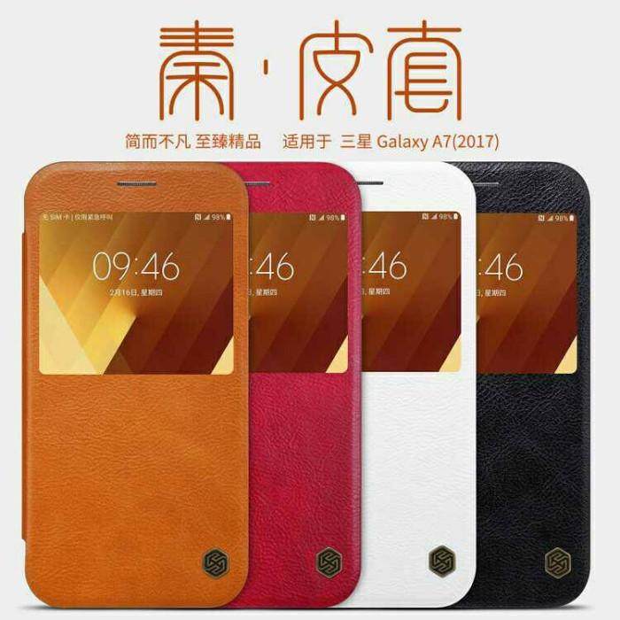 Samsung a7 2017 nillkin qin leather case original 100%