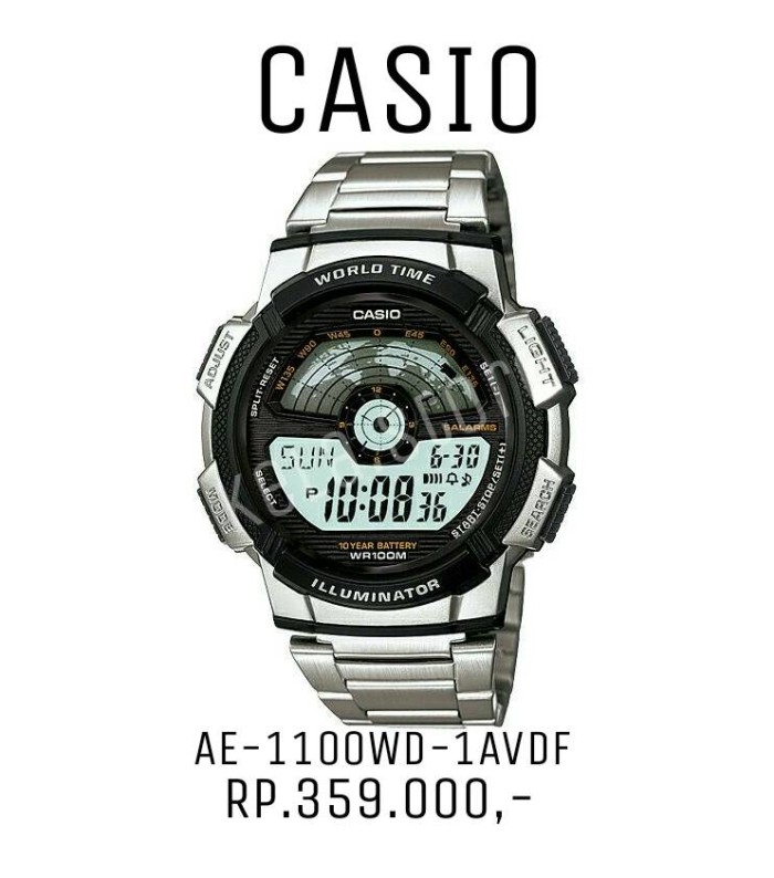 Jam Tangan / Jam Casio AE-1100WD-1AVDF 100% original