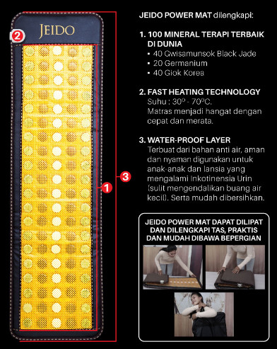 harga Jeido power mat matras terapi kesehatan (bonus kalung + gelang) Tokopedia.com