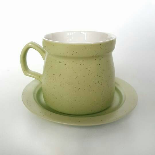 Green coffee cup set