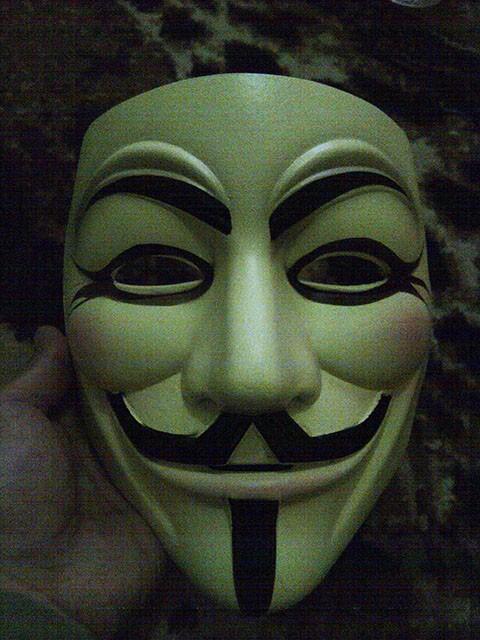 Jual Topeng Anonymous Fiberglass High Quality Resin