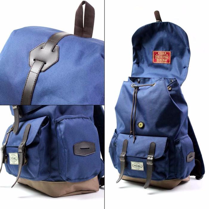 Visval Bags Abigail Navy/Tas Ransel Backpack Laptop