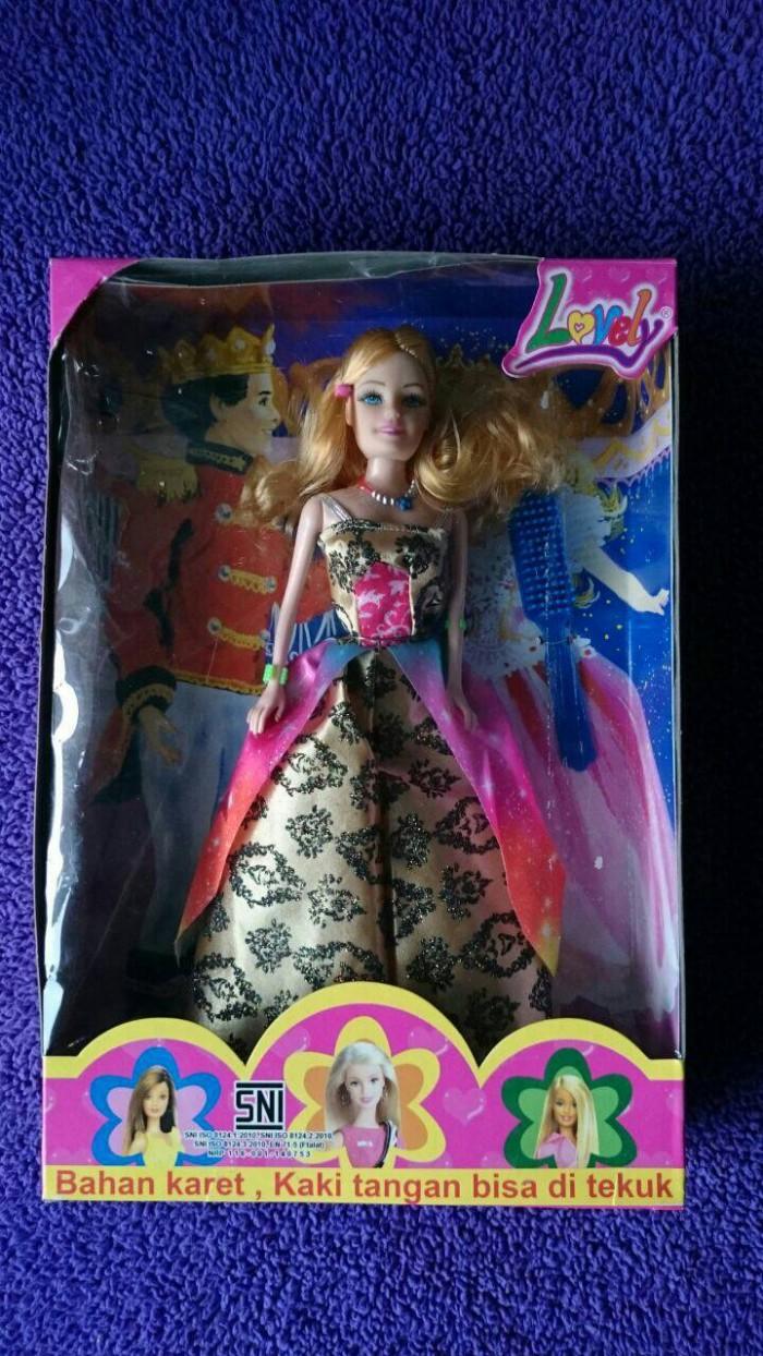 barbie lovely tangan bisa ditekuk - boneka berbie princess- kado ultah b604e0667d