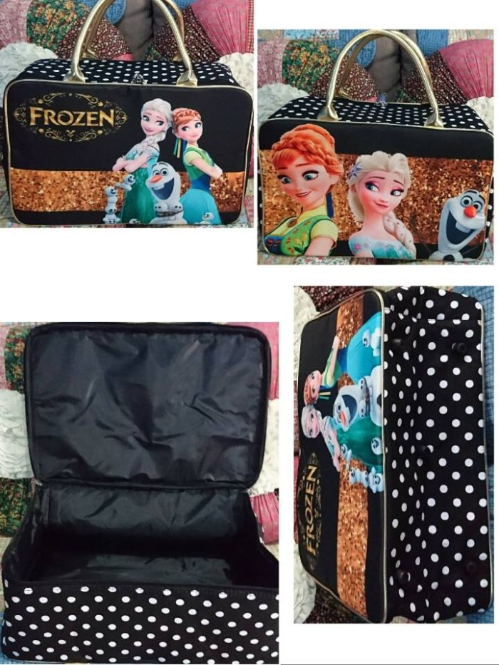 Travel Bag Kanvas Koper Anak Karakter Frozen #5