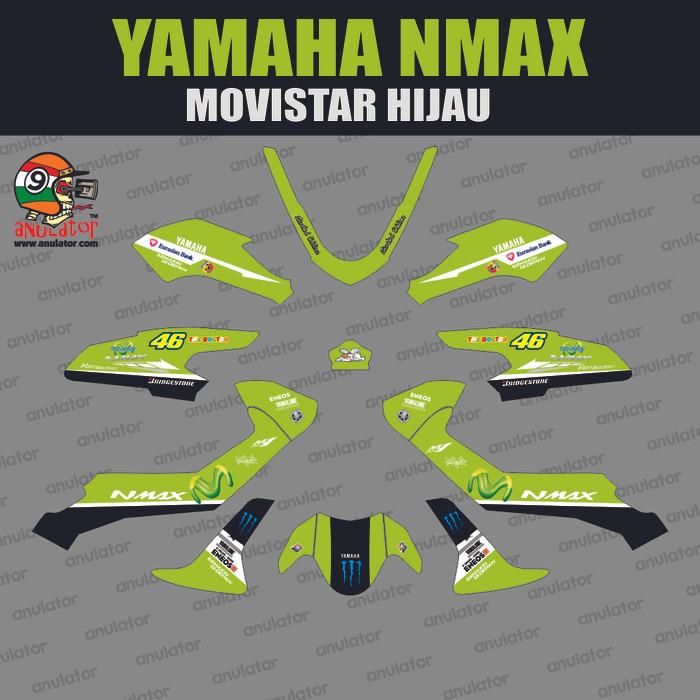 Foto Produk Sticker Striping Motor Stiker Yamaha Nmax movistar Hijau Spec B dari anulator-custom