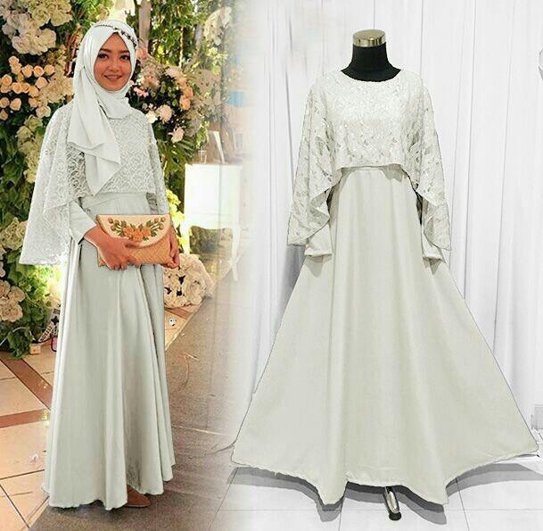 Jual Olivia Putih Gamis Pesta Maxi Dress Elegan Murah Gallery