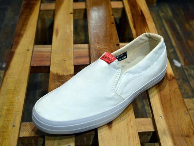 Jual Sepatu Converse Slip On Formal Putih Slop Untuk Wanita Pria