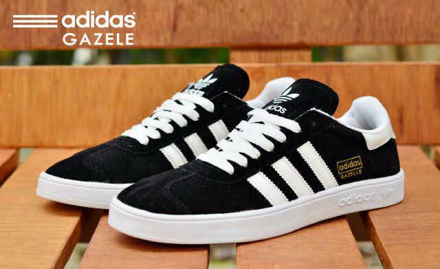 Jual Sepatu Adidas Gazelle Murah Promo Hitam List Putih - Anekka ... 99e10740c1f8