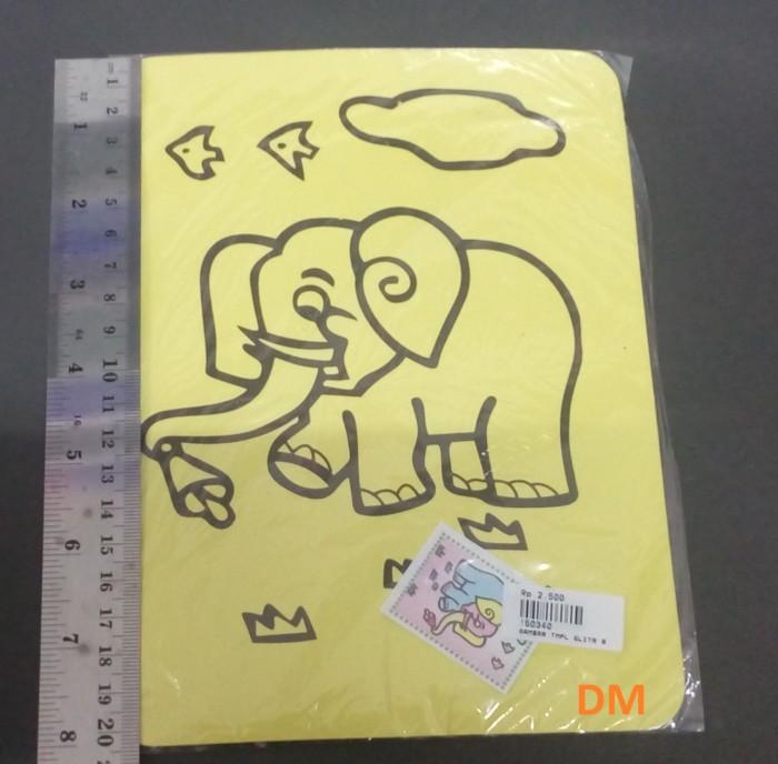 Jual Gambar Gajah Mewarnai Kertas Sticker Glitter Murah Kota Bogor