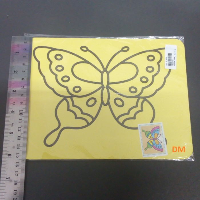 Jual Gambar Kupu Kupu Mewarnai Kertas Sticker Glitter Murah Kota