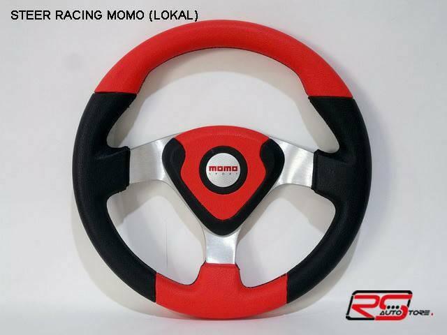 harga Steer/stir racing momo evo / datar 14 inch universal merah hitam Tokopedia.com