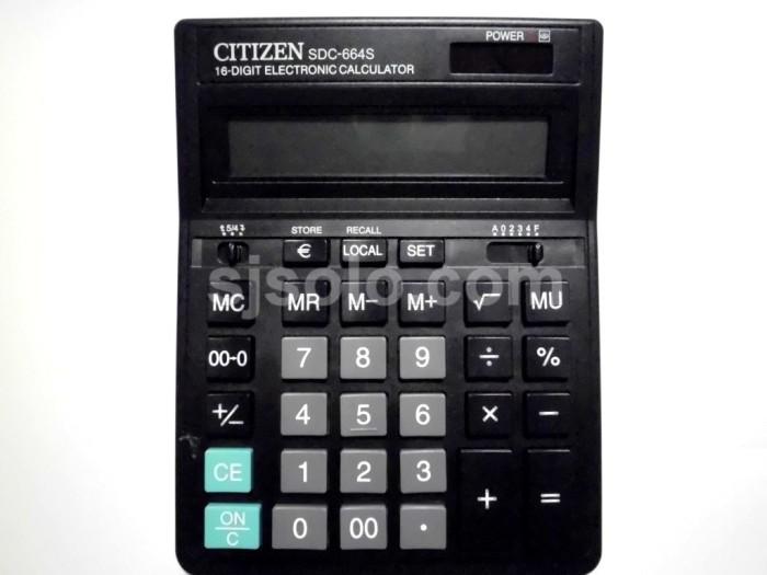 Kalkulator Citizen Desktop Calculator SDC 664 S