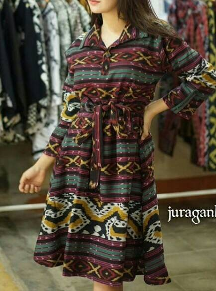 Jual Longdress Tunik Tenun Ikat Blanket Batik Terbaru