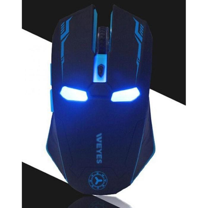 Foto Produk TERMURAH ! WEYES Iron Man Wireless Mouse Gaming Mute Bu Diskon dari Fighter16