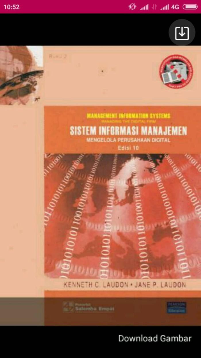 Jual Sistem Informasi Manajemen 2 Ed 10 Oleh Kenneth C Laudon Kota Yogyakarta INBOOKS