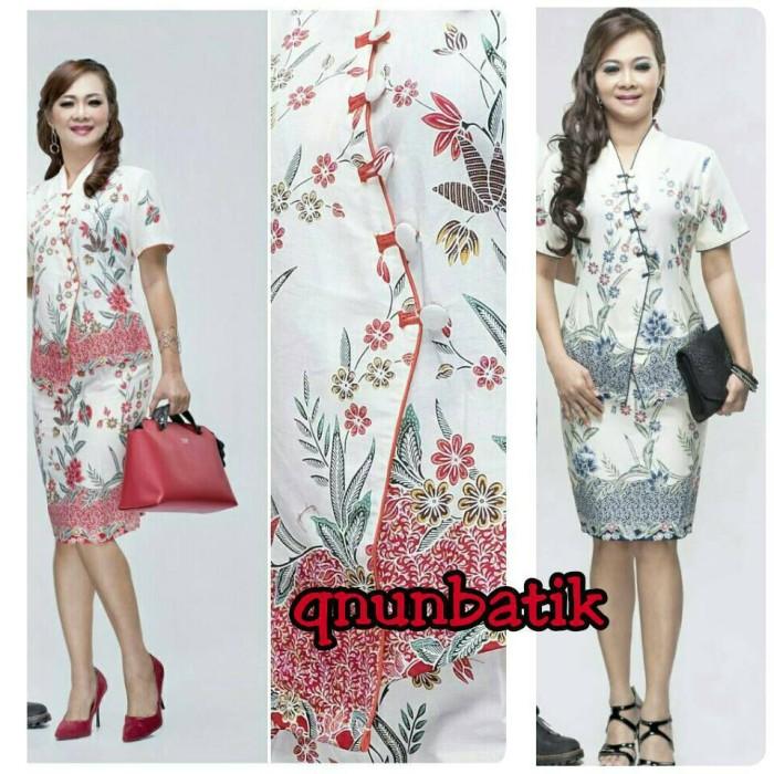 harga Rok n blus batik jumbo xxl cewek wanita naomi kupu Tokopedia.com