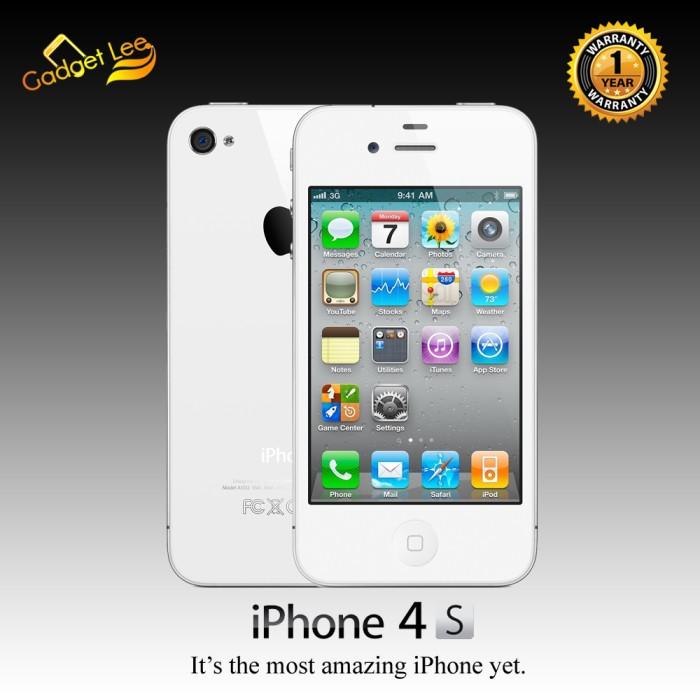 Jual Iphone 4s 16gb White Garansi 1 Tahun Distributor Gadget Lee