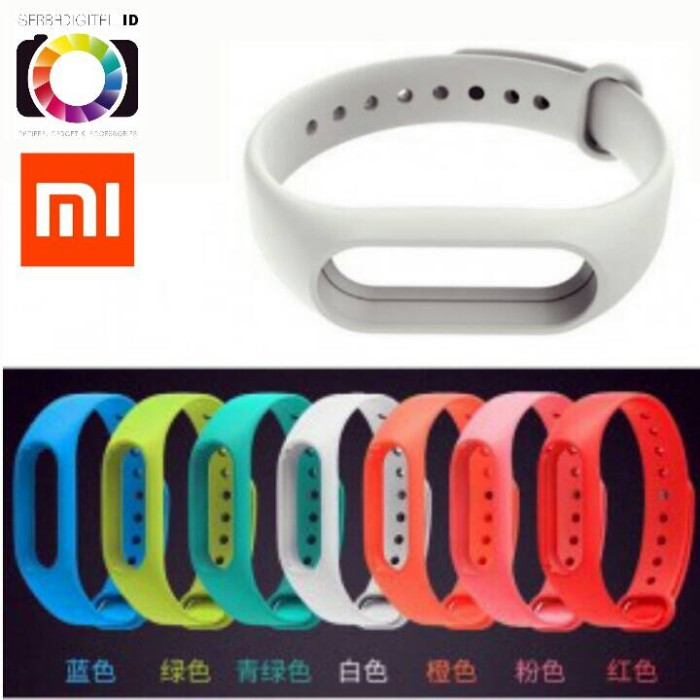 Strap Gelang TPU Replacement Xiaomi Mi Band 2 LCD Oled White