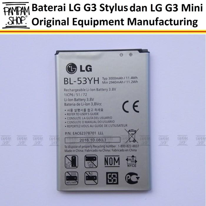 harga Baterai handphone lg g3 stylus d690 original oem bl-53yh bl53yh batre Tokopedia.com
