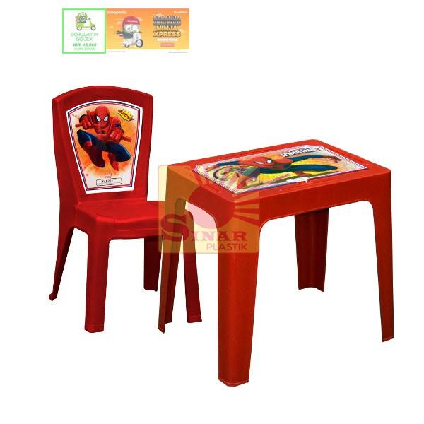harga Meja belajar anak 1 set meja + kursi   hot wheels/ frozen/ hello kitty Tokopedia.com