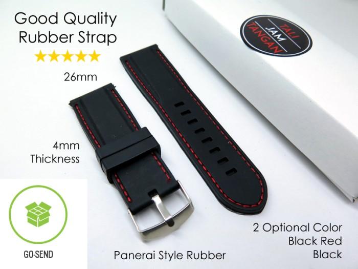 Jual 26mm Panerai Style Rubber Strap Tali Jam Tangan Karet Murah ...
