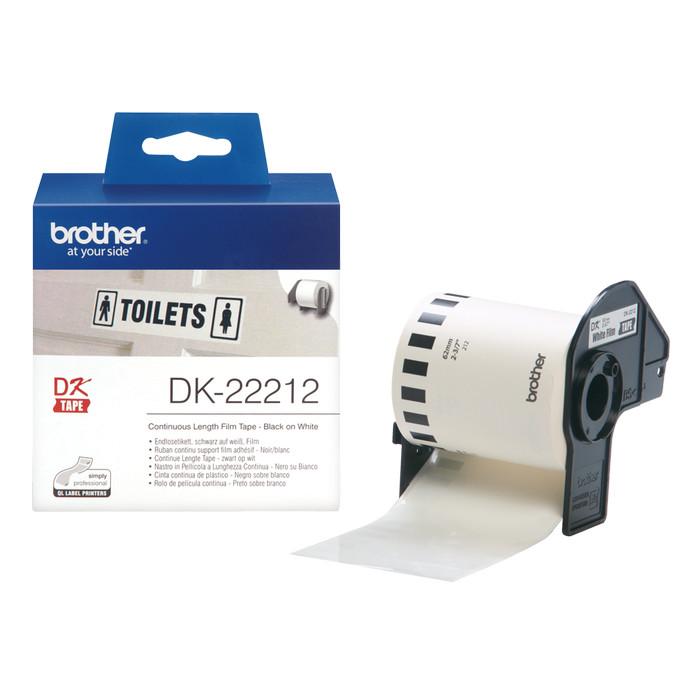 harga Brother label tape dk-22212 continuous length film white tape Tokopedia.com