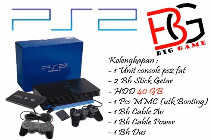 Foto Produk Sony Playstation 2 / PS2FAT / PS 2 Hdd 40Gb - Full Games Lengkap Murah - 40GB dari Hendri Elektronik