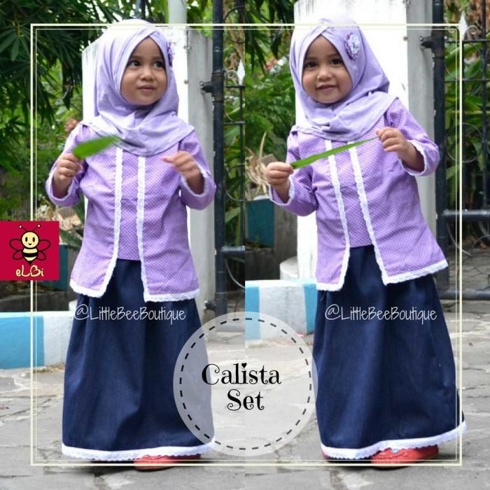 Jual Kebaya Muslim Anak Calista 3 4 Tahun Baju Kartinian Kota Surabaya Gisela Store Tokopedia