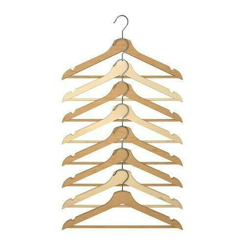 harga Ikea bumerang gantungan baju 8pc, hanger kayu alami Tokopedia.com