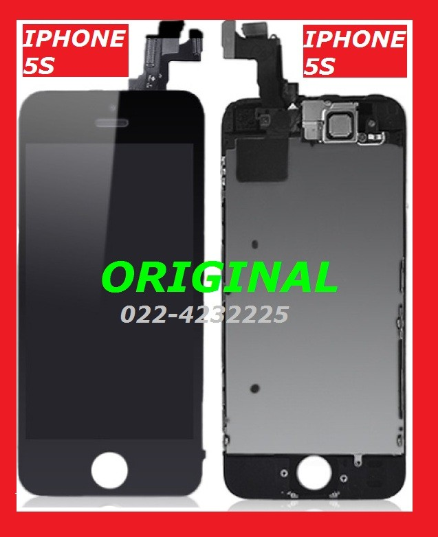 LCD + TOUCHSCREEN IPHONE 5S BLACK ORI 100% ORIGINAL LAYAR 900948