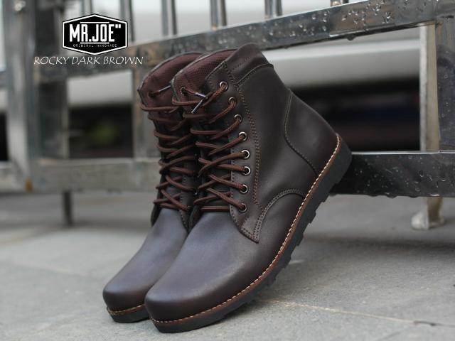 harga Sepatu boot mr joe rocky dark brown original Tokopedia.com