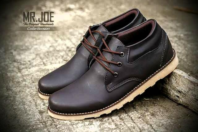 harga Sepatu boot mr joe cole dark brown original Tokopedia.com
