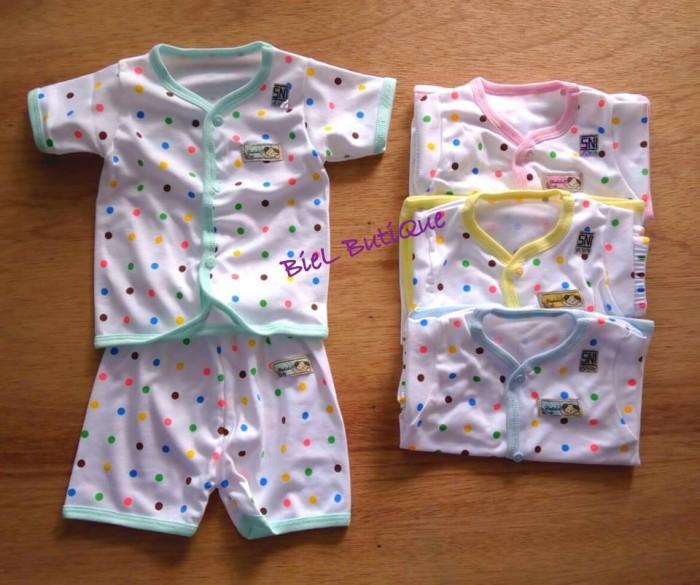 harga Setelan sni bayi 3-5bln polka dot lengan pendek + celana pendek Tokopedia.com