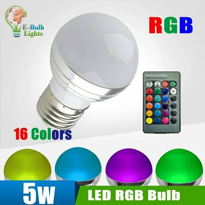Lampu LED 16 Warna with Remote 5 Watt