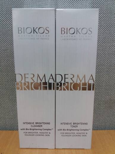 harga Biokos derma bright intensive brightening cleanser dan toner 120 ml Tokopedia.com
