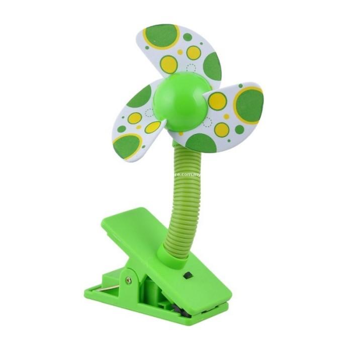 harga Deboo baby stroller mini fan polka green hijau / kipas angin stroller Tokopedia.com