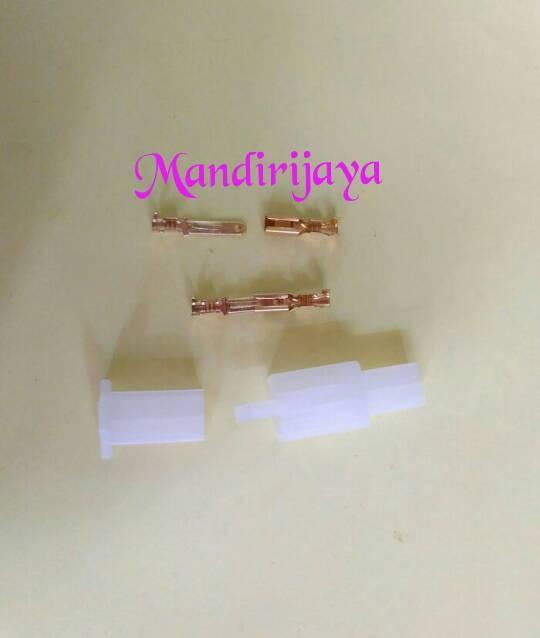 Soket/conektor motor 2pin kecil + sekun cwe/cwo