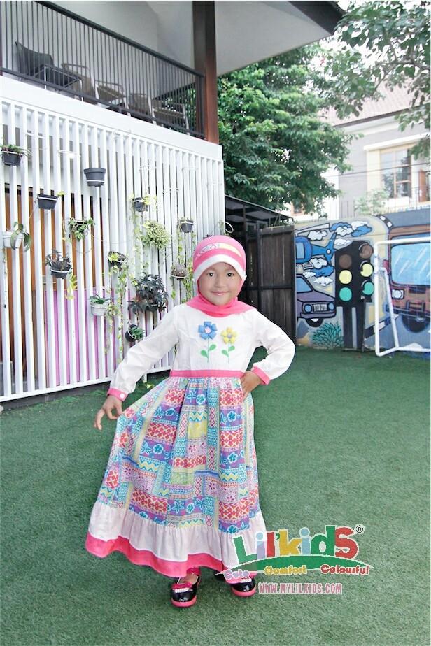 Foto Produk Baju Muslim Anak T-117 Pink Size 6 Rp 176.000 dari Lil Kids