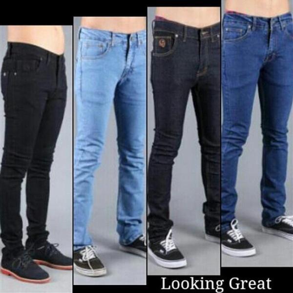 celana jeans // celana pria // celana slimfit // jeans panjang pria - Biru Muda, 31