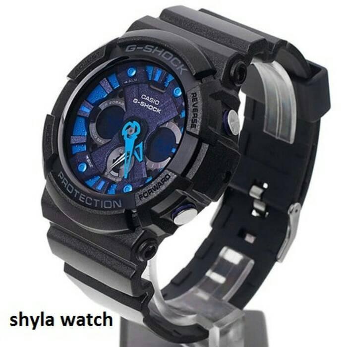 Jam tangan pria casio g shock original ga 200sh-1adr analog-digital