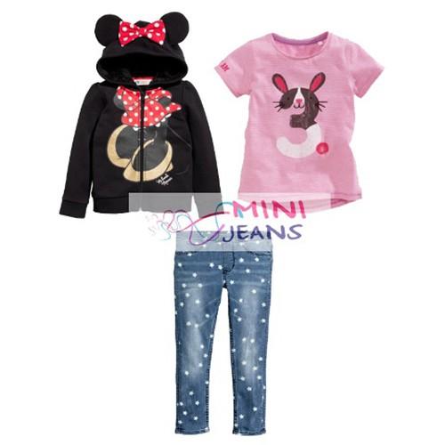 Setelan anak mini jeans minnie mouse hoodie | setelan anak perempuan